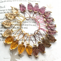 20 Knitting stitch markers Autumn Leaves