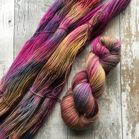 Hand dyed yarn 4 ply Polwarth Forever Autumn 100g