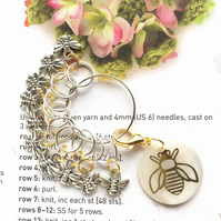 10 Knitting stitch markers Julia's bees