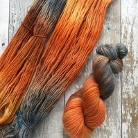Hand dyed knitting yarn 4 ply BFL 100g Harvest