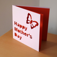 Butterfly Hand Cut 'Happy Mother's Day' Card