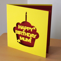 Personalised 'Happy Birthday' Cake Greetings Card