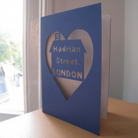 New House Personalised Hand Cut Card
