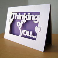 'Thinking of You' Hand Cut Card