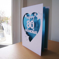 Personalised 'Happy Birthday' Hand Cut Birthday Card