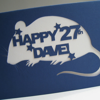 Animal Personalised 'Happy Birthday' Hand Cut Card