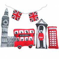 MAKE A LITTLE LONDON' sewing kit and tea towel