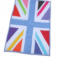 Union Jack multi coloured Cot Quilt