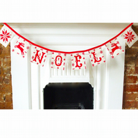 Hand Screen printed Christmas garland sewing kit