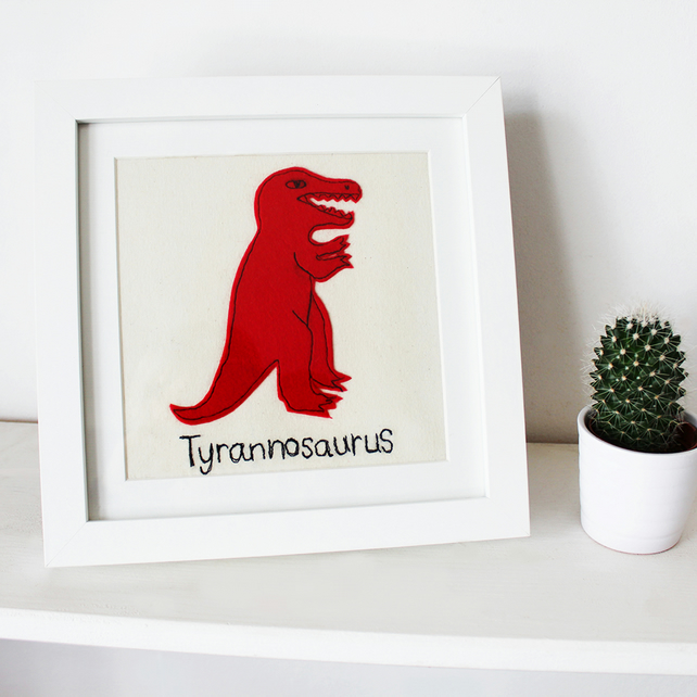 Tyrannosaurus stitched picture