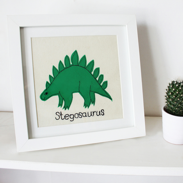 Stegosaurus stitched picture