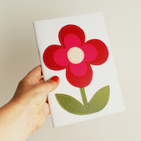 retro flower notebook
