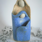 "Miniature ceramic nativity group, Christmas crib, abstract, ""Holy Family"""