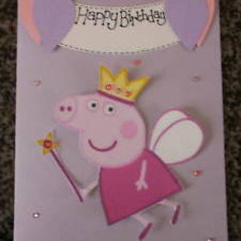Handmade Personalised Peppa Pig 3D Birthday Card