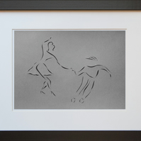 Lindy Hop Paper Cut Art - Framed