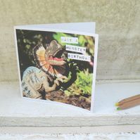 Dinosaur birthday mini card