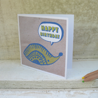 Hedgehog Happy Birthday mini card