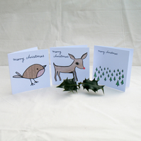Pack of Twelve Mini Christmas Cards