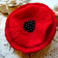 FY031 -  RED POPPY CORSAGE