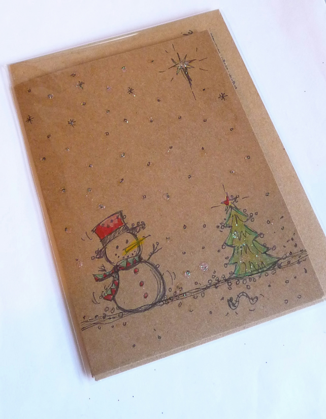 Hand Drawn Design Christmas Card