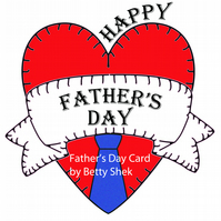 A big Heart Father's Day Card for your dad