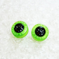 Bright and colorful mini compass stud earrings