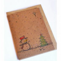 Hand Drawn Design Christmas Card by Betty Shek