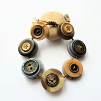 WAS 10.50 ,NOW 9.50 each Vintage Button Adjustable Bracelet