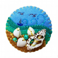 Beside The Seaside Theme Handmade Felt Brooch
