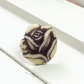 Beautiful purple and off white rose design adjustable ring