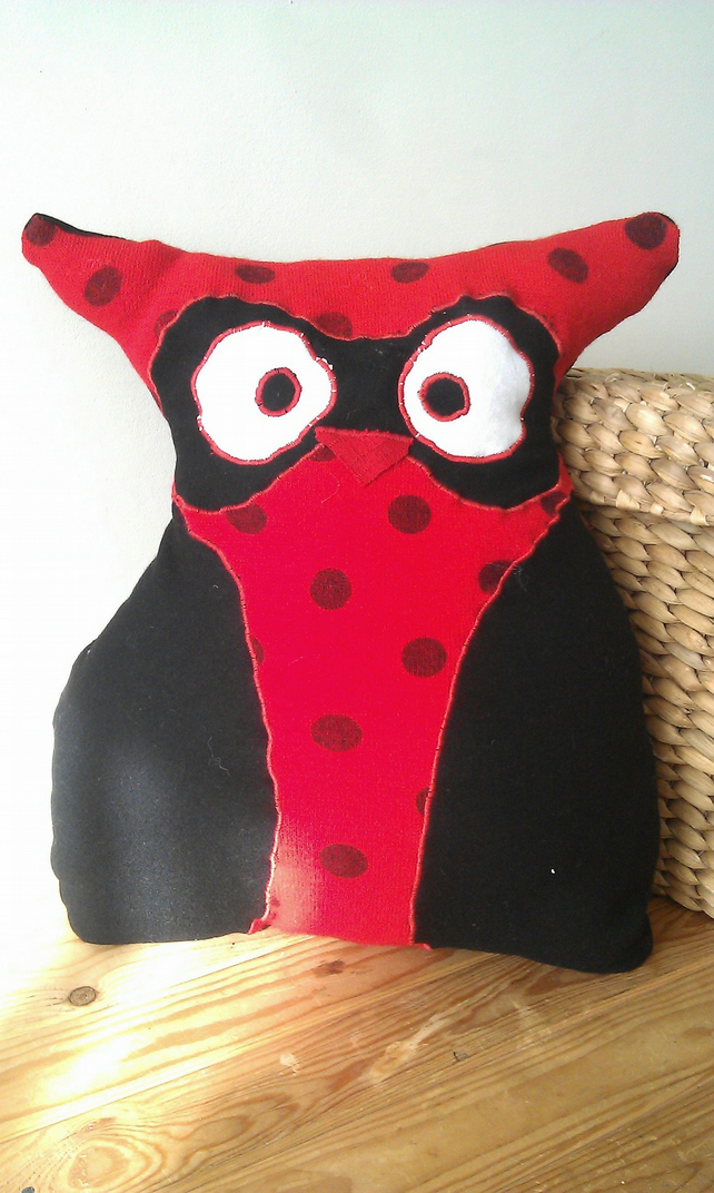 Owl Cushion Chloe the Ladybird Owl