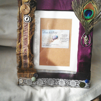 Peacock Lace Picture Frame