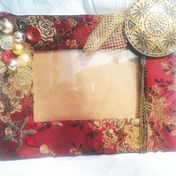 Picture Frame - Red & Gold
