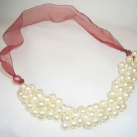 Pearl Ribbon Necklace
