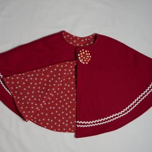 Red toddler cape