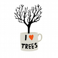 I Heart Trees card