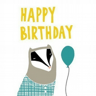 Birthday Badger Card