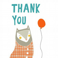 Thank You Card Red Balloon