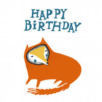 1 x Birthday Fox Card
