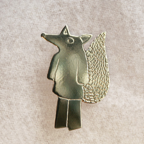 Mr Fox brooch