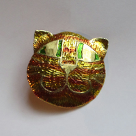 Marmalade cat brooch