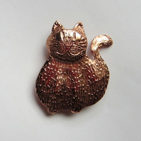 Fat copper cat