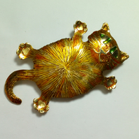 cat brooch, ginger tom cat,marmalade cat