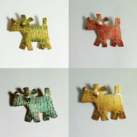 dog brooch, westie brooch,highland terrier brooch