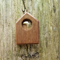 bird house, bird box brooch