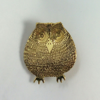 Owl bird brooch