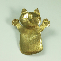 Cat brooch,cat jewellery,