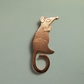 Mouse brooch, rat brooch