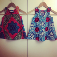 African print girl's dress - age 3 months to 3 years. Made to order.