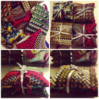 African print lavender pillow bundle